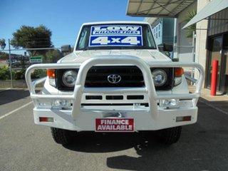 2003 Toyota Landcruiser HZJ79R White 5 Speed Manual Cab Chassis.