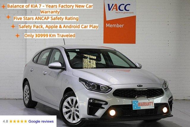 Used Kia Cerato BD MY19 S Moorabbin, 2019 Kia Cerato BD MY19 S Silver 6 Speed Sports Automatic Hatchback