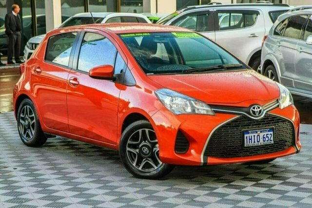 Used Toyota Yaris NCP130R Ascent Attadale, 2015 Toyota Yaris NCP130R Ascent Orange 4 Speed Automatic Hatchback