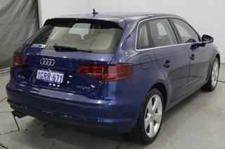 2014 Audi A3 8V Ambition Sportback S Tronic Blue 6 Speed Sports Automatic Dual Clutch Hatchback.