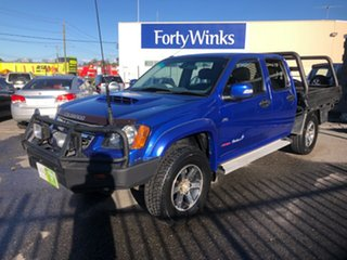 2009 Holden Colorado RC MY09 LX (4x4) Blue 5 Speed Manual Crew Cab Chassis