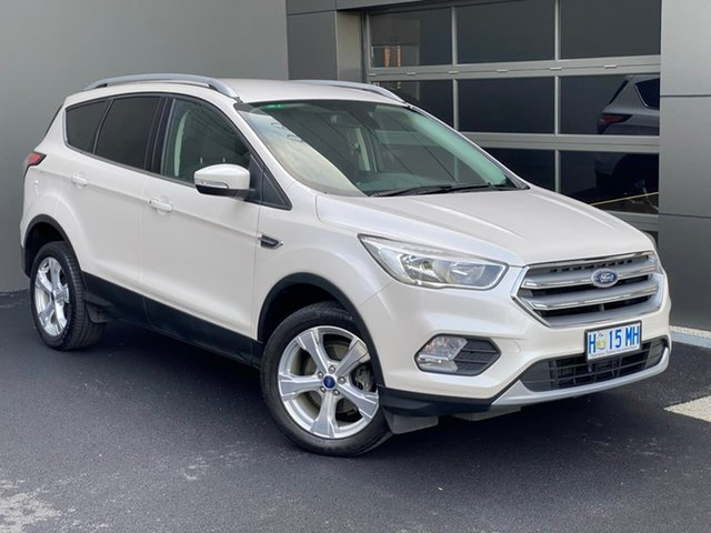 Used Ford Escape ZG 2018.00MY Trend Hobart, 2017 Ford Escape ZG 2018.00MY Trend White 6 Speed Sports Automatic SUV