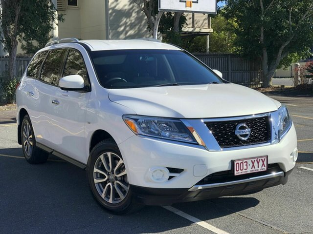 Used Nissan Pathfinder R52 MY14 ST X-tronic 2WD Chermside, 2014 Nissan Pathfinder R52 MY14 ST X-tronic 2WD White 1 Speed Constant Variable Wagon