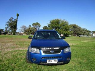 2007 Ford Territory SY MY07 Upgrade TX (RWD) Blue 4 Speed Auto Seq Sportshift Wagon.