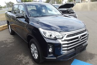 2021 Ssangyong Musso Q215 MY21 ELX Crew Cab XLV Blue 6 Speed Sports Automatic Utility.