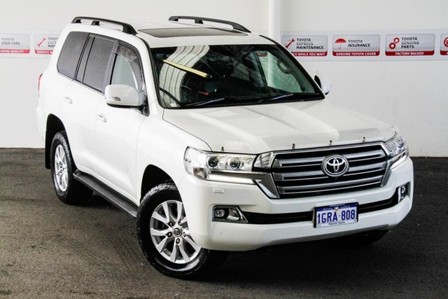 Pre-Owned Toyota Landcruiser VDJ200R LC200 VX (4x4) Myaree, 2018 Toyota Landcruiser VDJ200R LC200 VX (4x4) Crystal Pearl 6 Speed Automatic Wagon