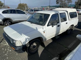 1992 Toyota Hilux LN86R White 5 Speed Manual Dual Cab Pick-up.