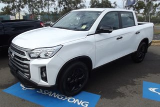 2021 Ssangyong Musso Q215 MY21 Ultimate Luxury Crew Cab White 6 Speed Sports Automatic Utility.