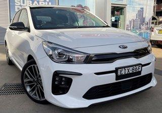 2020 Kia Rio YB MY20 GT-Line Clear White 7 Speed Auto Dual Clutch Hatchback.