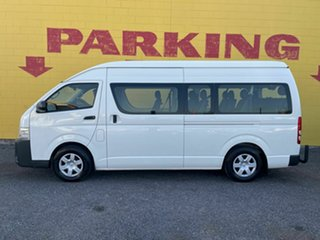 2016 Toyota HiAce KDH223R Commuter High Roof Super LWB White 5 Speed Manual Bus