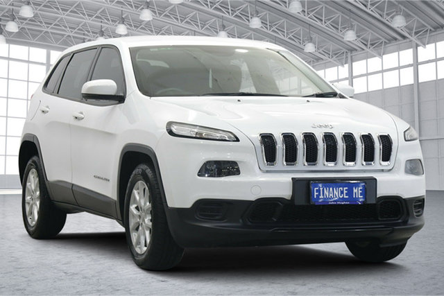 Used Jeep Cherokee KL MY15 Sport Victoria Park, 2015 Jeep Cherokee KL MY15 Sport White 9 Speed Sports Automatic Wagon