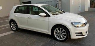2013 Volkswagen Golf AU 110 TDI Highline White 6 Speed Direct Shift Hatchback