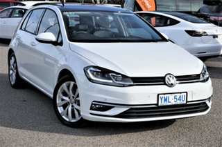 2018 Volkswagen Golf 7.5 MY18 110TDI DSG Highline Pure White 7 Speed Sports Automatic Dual Clutch.