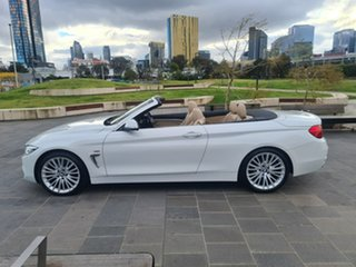 2014 BMW 4 Series F33 420i Luxury Line White 8 Speed Sports Automatic Convertible
