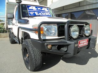 2012 Toyota Landcruiser VDJ79R MY13 Workmate White 5 Speed Manual Cab Chassis.