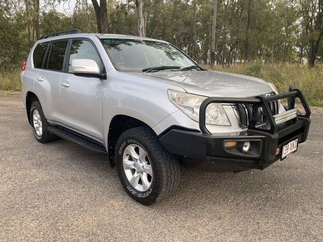 Pre-Owned Toyota Landcruiser Prado KDJ150R 11 Upgrade GXL (4x4) Chinchilla, 2013 Toyota Landcruiser Prado KDJ150R 11 Upgrade GXL (4x4) Silver Pearl 5 Speed Sequential Auto