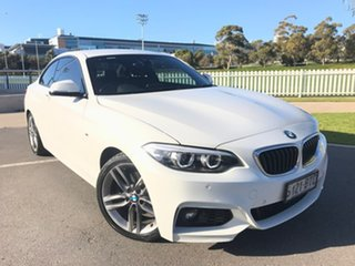 2017 BMW 2 Series F22 LCI 220i M Sport White 8 Speed Sports Automatic Coupe.
