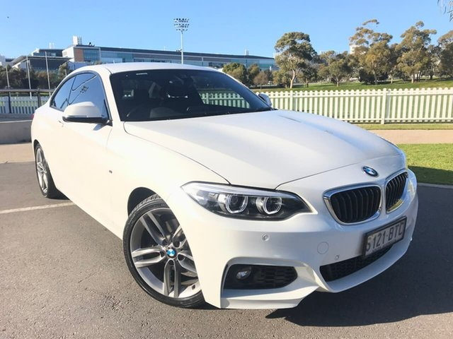 Used BMW 2 Series F22 LCI 220i M Sport Adelaide, 2017 BMW 2 Series F22 LCI 220i M Sport White 8 Speed Sports Automatic Coupe