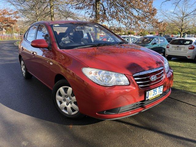 Used Hyundai Elantra HD MY10 SX Launceston, 2010 Hyundai Elantra HD MY10 SX Red 5 Speed Manual Sedan