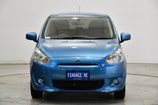 2014 Mitsubishi Mirage LA MY15 LS Blue 1 Speed Constant Variable Hatchback.