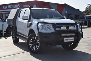 2015 Holden Colorado RG MY15 LS Crew Cab White 6 Speed Manual Cab Chassis.