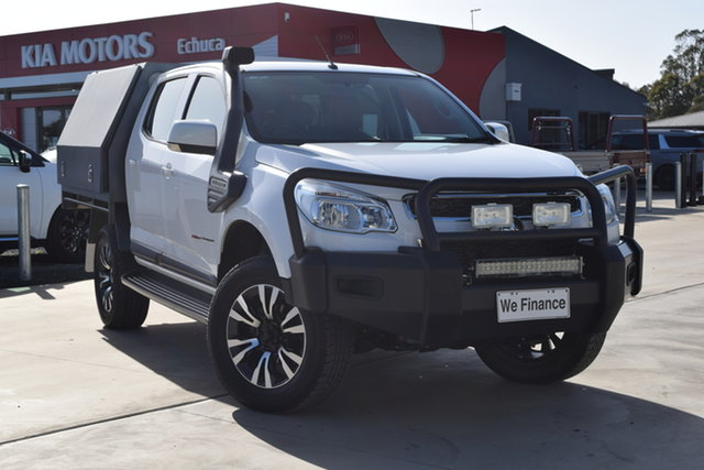 Used Holden Colorado RG MY15 LS Crew Cab Echuca, 2015 Holden Colorado RG MY15 LS Crew Cab White 6 Speed Manual Cab Chassis