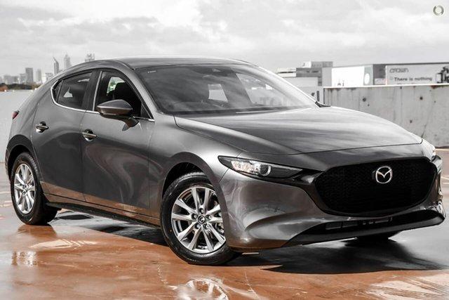 New Mazda 3 BP2H7A G20 SKYACTIV-Drive Pure Waitara, 2021 Mazda 3 BP2H7A G20 SKYACTIV-Drive Pure Grey 6 Speed Sports Automatic Hatchback