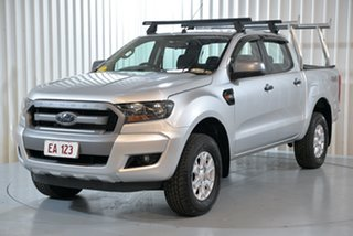 2018 Ford Ranger PX MkII MY18 XLS 3.2 (4x4) Silver 6 Speed Automatic Dual Cab Utility.