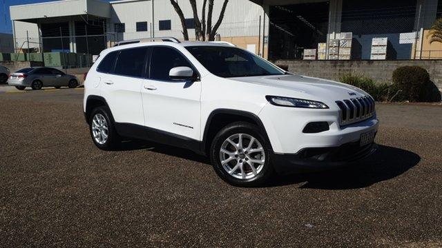 Used Jeep Cherokee KL MY16 Longitude (4x4) Underwood, 2016 Jeep Cherokee KL MY16 Longitude (4x4) White 9 Speed Automatic Wagon