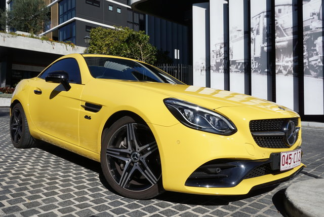 Used Mercedes-Benz SLC-Class R172 East Brisbane, 2019 Mercedes-Benz SLC-Class R172 SLC300 Sun Yellow 9 Speed Sports Automatic Convertible