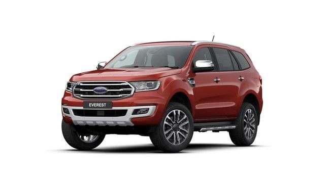 Used Ford Everest UA II 2020.25MY Titanium Midland, 2020 Ford Everest UA II 2020.25MY Titanium Red 10 Speed Sports Automatic SUV