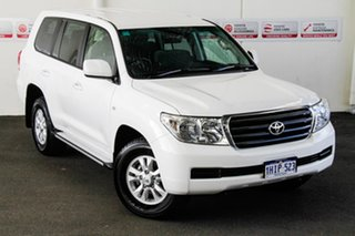 2011 Toyota Landcruiser VDJ200R 09 Upgrade GXL (4x4) Glacier White 6 Speed Automatic Wagon.