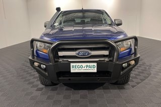 2015 Ford Ranger PX MkII XLS Double Cab Aurora Blue 6 speed Automatic Utility.