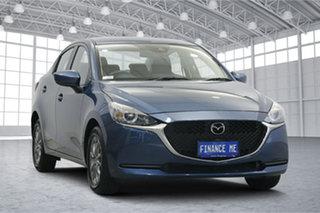 2020 Mazda 2 DL2SAA G15 SKYACTIV-Drive Pure Eternal Blue 6 Speed Sports Automatic Sedan.