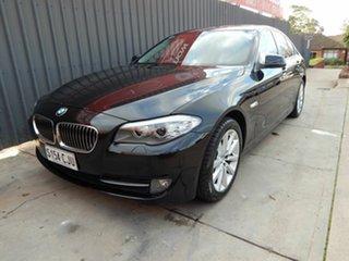 2011 BMW 5 Series F10 MY0311 520d Steptronic Black 8 Speed Sports Automatic Sedan.