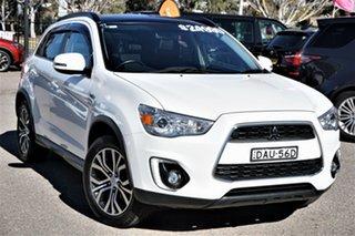 2015 Mitsubishi ASX XB MY15.5 XLS 2WD White 6 Speed Constant Variable Wagon.