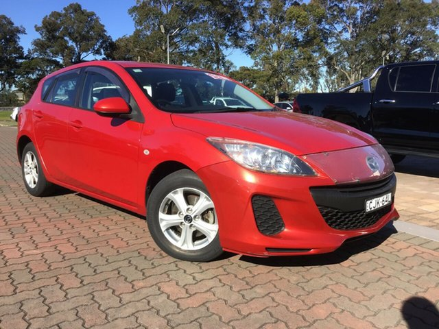 Pre-Owned Mazda 3 BL10F2 Neo Activematic Warwick Farm, 2012 Mazda 3 BL10F2 Neo Activematic Maroon 5 Speed Sports Automatic Hatchback