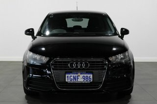 2012 Audi A1 8X MY12 Ambition Sportback S Tronic Black 7 Speed Sports Automatic Dual Clutch.