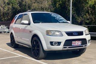 2010 Ford Territory SY MkII Ghia (RWD) White 4 Speed Auto Seq Sportshift Wagon.