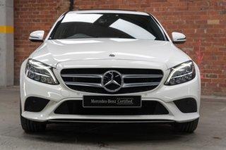 2020 Mercedes-Benz C-Class W205 800+050MY C200 9G-Tronic Polar White 9 Speed Sports Automatic Sedan