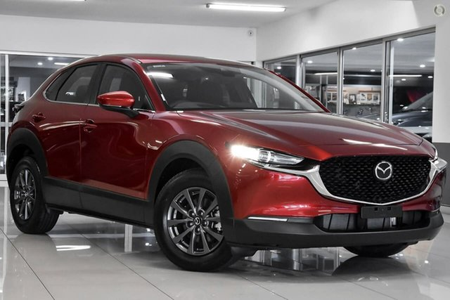 Demo Mazda CX-30 DM2W7A G20 SKYACTIV-Drive Pure Waitara, 2021 Mazda CX-30 DM2W7A G20 SKYACTIV-Drive Pure Red 6 Speed Sports Automatic Wagon