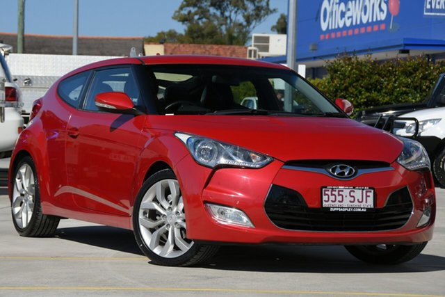 Used Hyundai Veloster FS Coupe Aspley, 2012 Hyundai Veloster FS Coupe Red 6 Speed Manual Hatchback