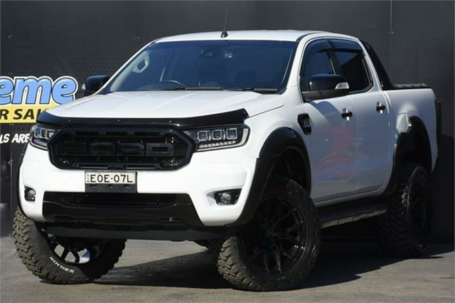 Used Ford Ranger PX MkII 2018.00MY XLT Double Cab Campbelltown, 2018 Ford Ranger PX MkII 2018.00MY XLT Double Cab White 6 Speed Sports Automatic Utility