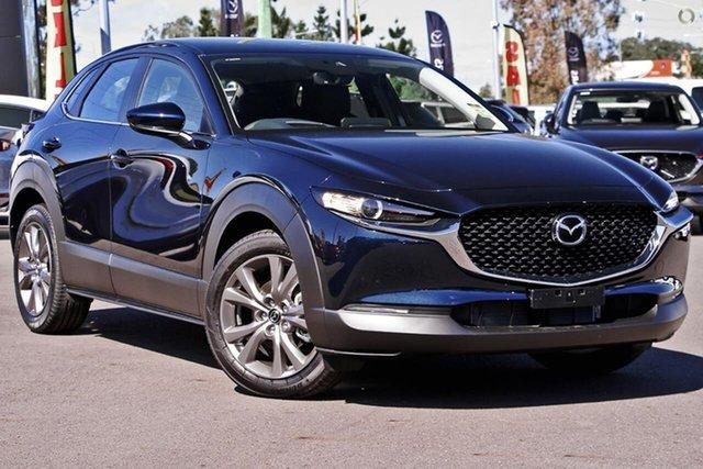New Mazda CX-30 DM2W7A G20 SKYACTIV-Drive Evolve Waitara, 2021 Mazda CX-30 DM2W7A G20 SKYACTIV-Drive Evolve Blue 6 Speed Sports Automatic Wagon