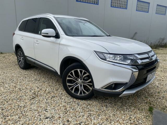Used Mitsubishi Outlander ZL MY19 LS 7 Seat (AWD) Wangaratta, 2018 Mitsubishi Outlander ZL MY19 LS 7 Seat (AWD) White Continuous Variable Wagon