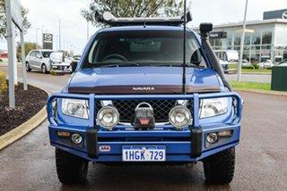 2012 Nissan Navara D40 S6 MY12 ST Blue 6 Speed Manual Utility