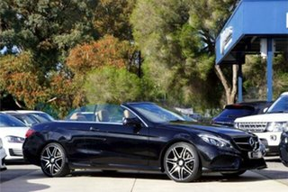2015 Mercedes-Benz E-Class A207 806MY E250 7G-Tronic + Black 7 Speed Sports Automatic Cabriolet.