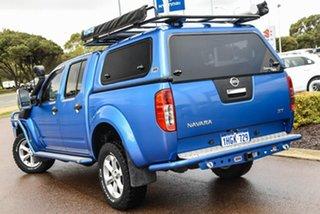 2012 Nissan Navara D40 S6 MY12 ST Blue 6 Speed Manual Utility.