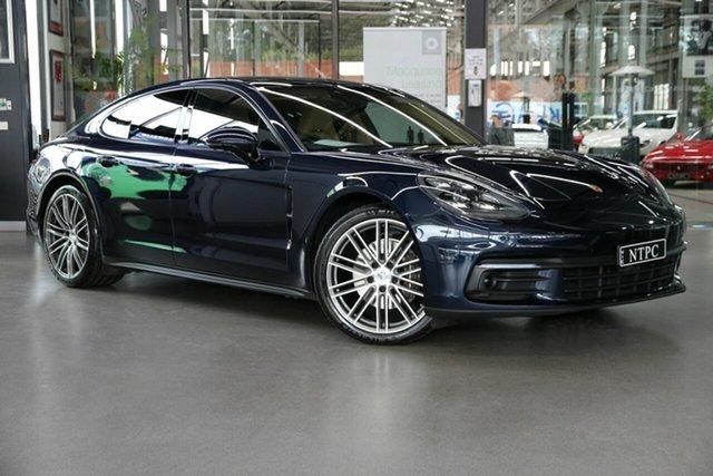 Used Porsche Panamera 971 MY18 PDK North Melbourne, 2017 Porsche Panamera 971 MY18 PDK Blue 8 Speed Sports Automatic Dual Clutch Sedan