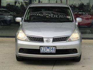 2006 Nissan Tiida C11 ST Silver 4 Speed Automatic Hatchback.